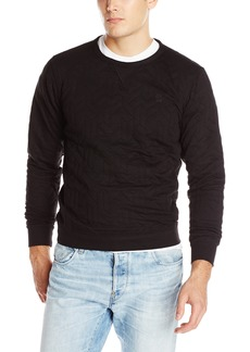 G Star Raw Denim G-Star Raw Men's Wing naught Cubic Crew Neck Sweatshirt In Cubik Utah Jacquard