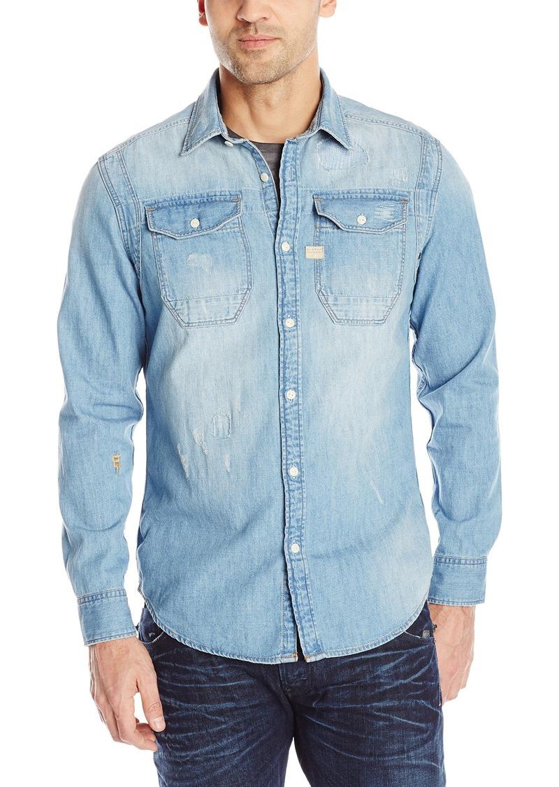 bf3942e13ab G Star Raw Denim G-Star Raw Men s Wolker Long Sleeve Button-Up Shirt ...