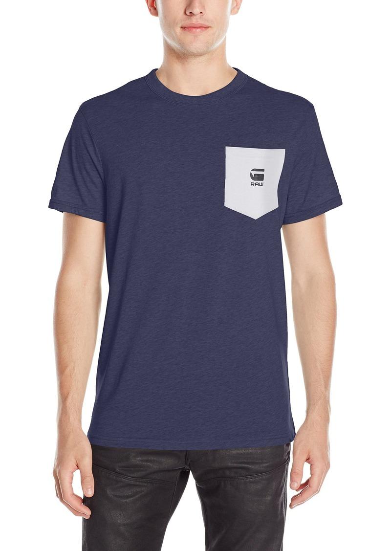 G Star Raw Denim G-Star Raw Men's Yarek Short Sleeve Contrast Pocket T-Shirt