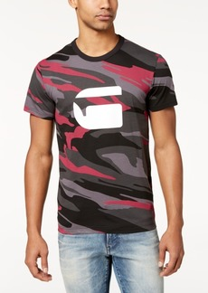 G Star Raw Denim G-Star Raw Men's Zeabel Camouflage Logo-Print T-Shirt