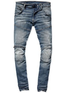 G Star Raw Denim G-Star Raw Mens Zip-Knee Skinny Fit Moto Jeans, Created for Macy's