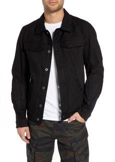 G Star Raw Denim G-Star Raw Motac-X Moto Uni Slim Cotton Denim Jacket (Higa Black Raw Denim)