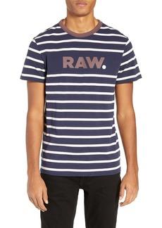 G Star Raw Denim G-Star Raw Mow Stripe Logo T-Shirt