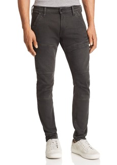 G Star Raw Denim G-STAR RAW Rackam Super Slim Fit Moto Jeans in Asfalt