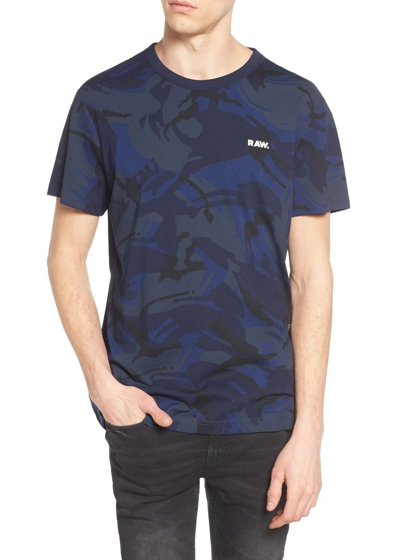 g star raw denim g star raw royn camo t shirt t shirts