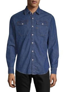 G Star Raw Denim Slim Cotton Button-Down Shirt