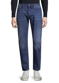 G Star Raw Denim Slim-Fit Whiskered Cotton Jeans