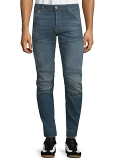 G Star Raw Denim Slim-Fit Whiskered Jeans