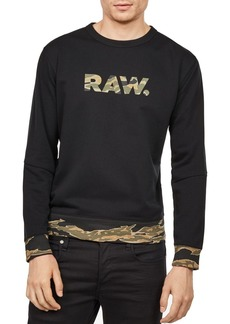 G Star Raw Denim G-STAR RAW Tahire Stalt DC Camouflauge-Trim Sweatshirt