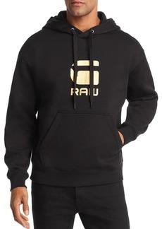 G Star Raw Denim G-STAR RAW Togrul Metallic Logo-Print Hooded Sweatshirt