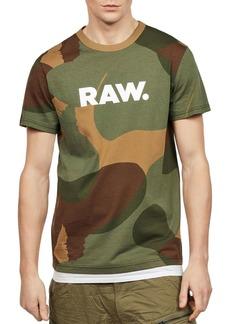 G Star Raw Denim G-STAR RAW Zost Camouflage Logo Tee