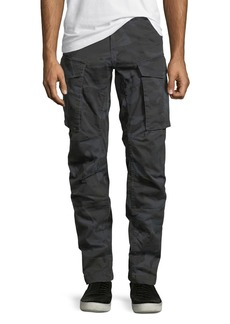 G Star Raw Denim Rovic Camo-Print 3D Zip Cargo Pants