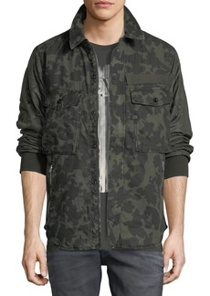 G Star Raw Denim Type C Camouflage-Print Over-Shirt Jacket