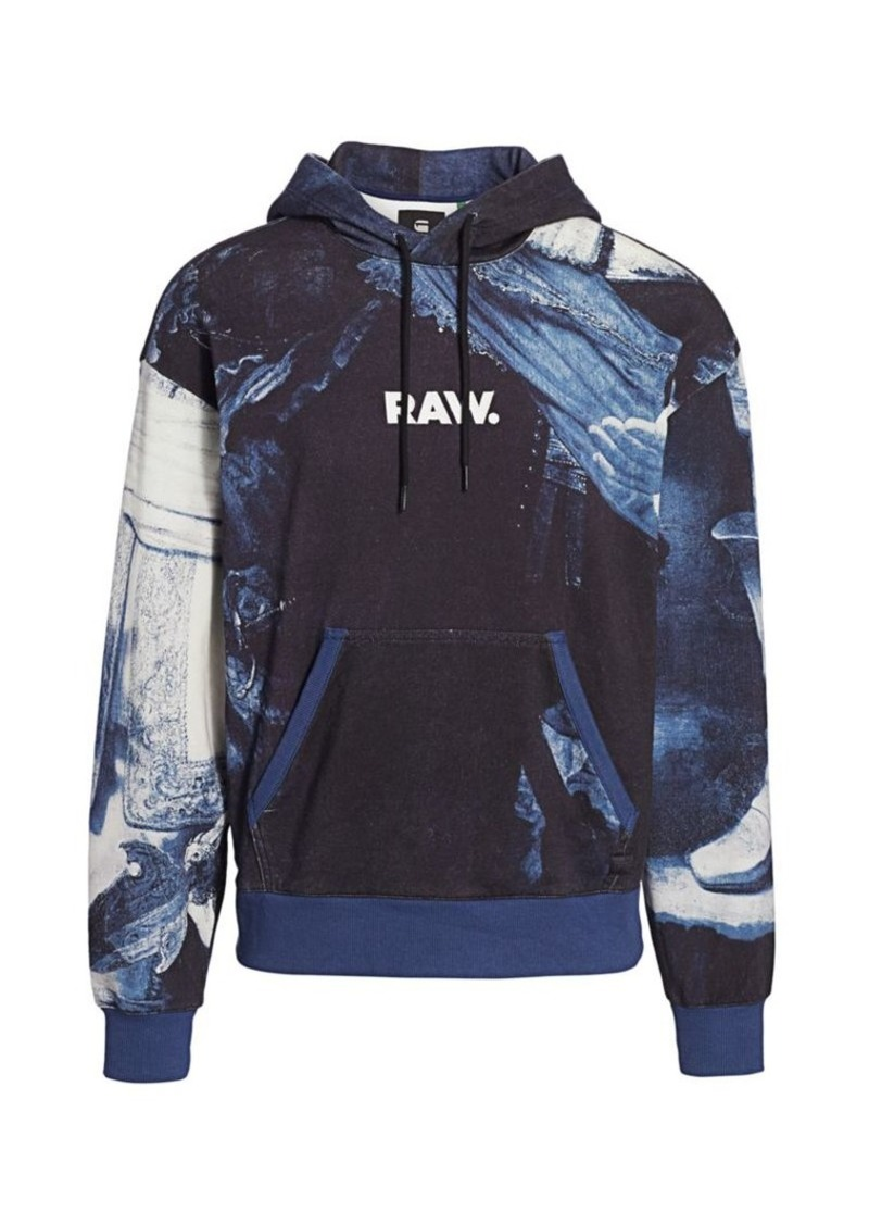G Star Raw Denim Graphic 16 Rijks Organic Cotton Hoodie