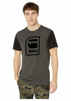 G Star Raw Denim Graphic 3 Round Neck Short Sleeve T-Shirt