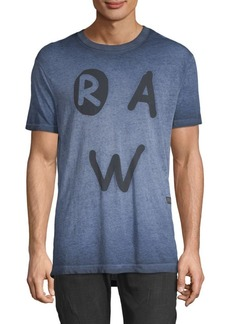 G Star Raw Denim Graphic Cotton Tee