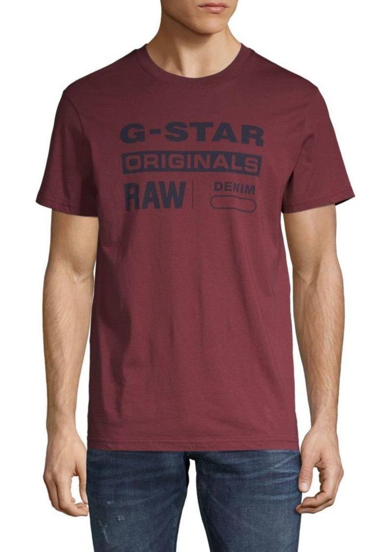 G Star Raw Denim Graphic Cotton Tee