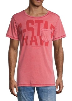 G Star Raw Denim Graphic Logo Cotton Pocket Tee