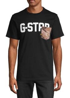 G Star Raw Denim Graphic Logo Cotton Tee