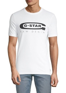 G Star Raw Denim Graphic Logo Cotton Tee