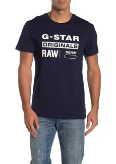 G Star Raw Denim Graphic Logo T-Shirt