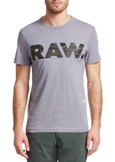 G Star Raw Denim Graphic Logo Tee