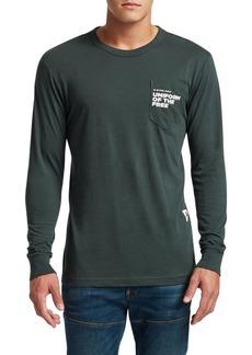 G Star Raw Denim Graphic Long Sleeve Pocket T-Shirt