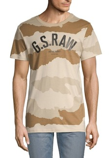 G Star Raw Denim Graphic Short-Sleeve Cotton Tee