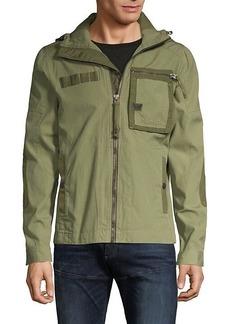 G Star Raw Denim Hooded Cotton-Blend Jacket