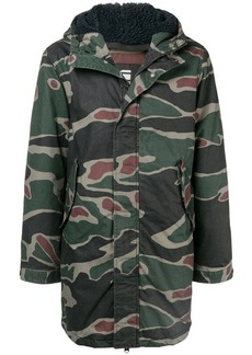 G Star Raw Denim hooded military jacket