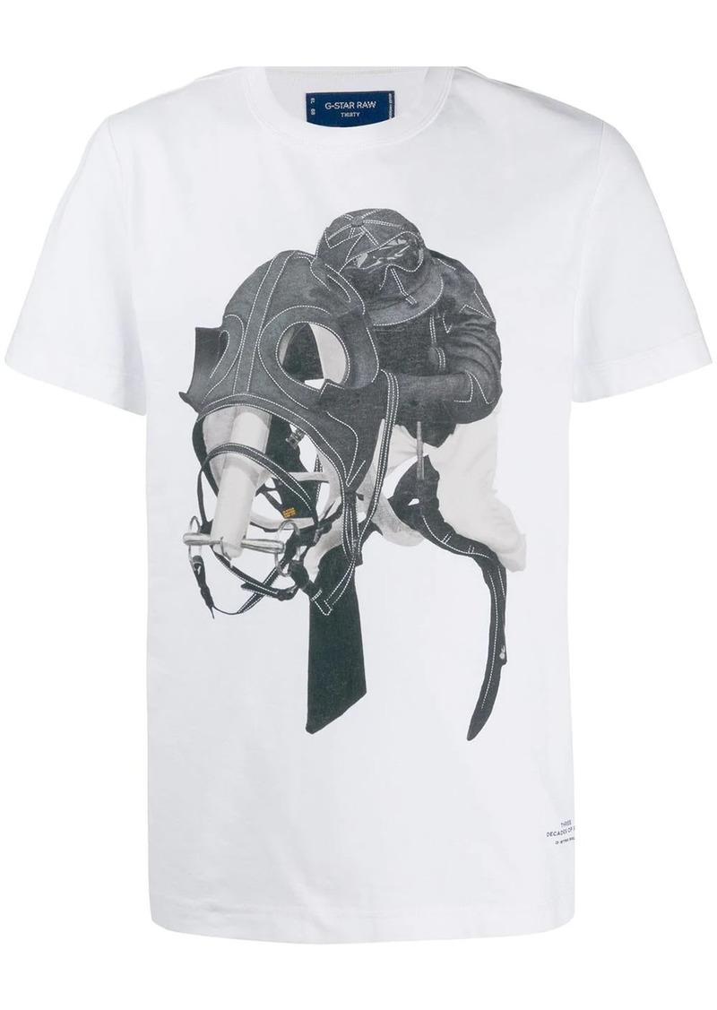 G Star Raw Denim horse jockey print T-shirt