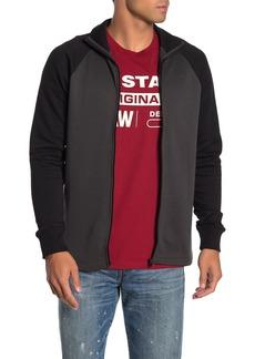 G Star Raw Denim Jirgi Colorblock Raglan Zip Sweatshirt