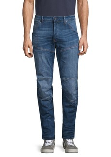 G Star Raw Denim Knee-Patch Straight Jeans