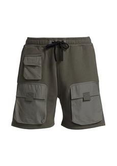 G Star Raw Denim Knit Cargo Sweatshorts