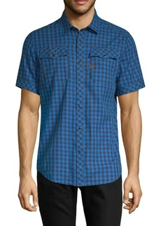 G Star Raw Denim Landoh Checked Button-Down Shirt