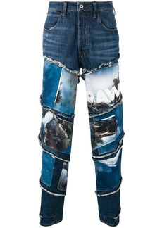 G Star Raw Denim landscapes print jeans