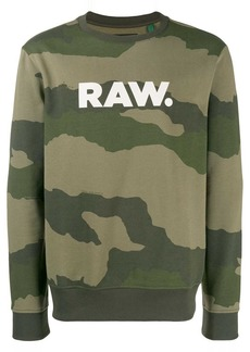 G Star Raw Denim logo camouflage print sweatshirt