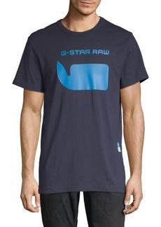 G Star Raw Denim Logo Cotton Tee