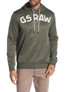 G Star Raw Denim Logo Hooded Sweatshirt