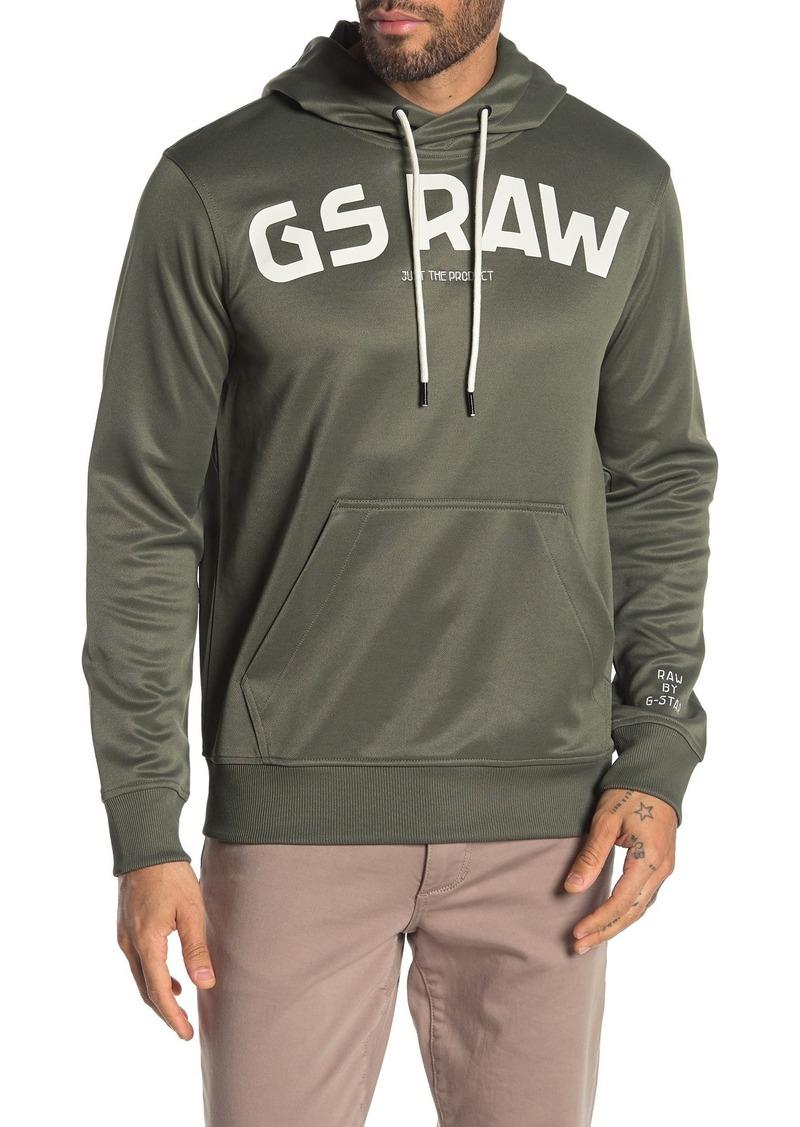 G Star Raw Denim Logo Hooded Sweatshirt