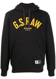 G Star Raw Denim logo patch hoodie