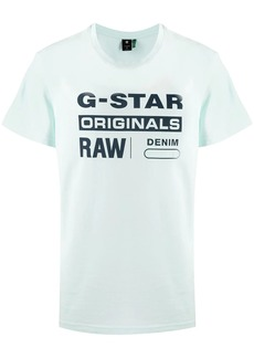 G Star Raw Denim logo print crew neck T-shirt