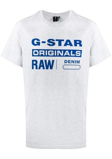 G Star Raw Denim logo print crew neck T-shirt