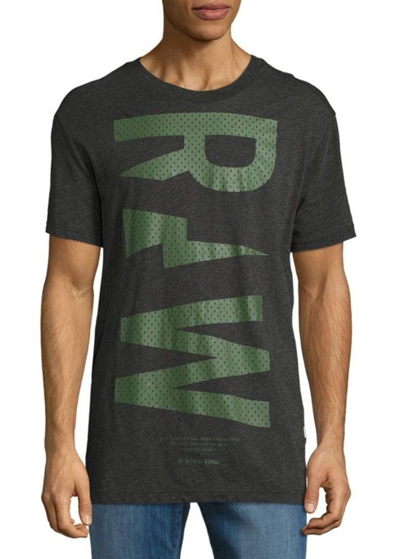 6e1c51b9 On Sale today! G Star Raw Denim Logo-Print Crewneck Tee