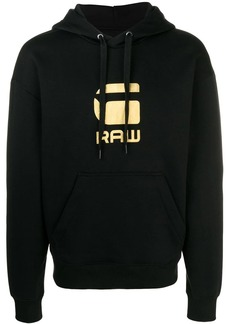 G Star Raw Denim logo print hoodie