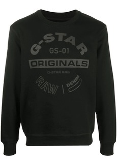 G Star Raw Denim logo printed sweatshirt
