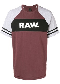 G Star Raw Denim logo stripe contrast sleeve tee