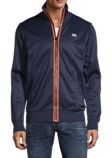 G Star Raw Denim Logo Zip-Up Jacket