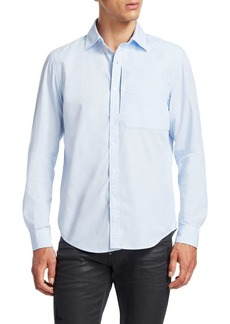 G Star Raw Denim Long Sleeve Button-Down Shirt