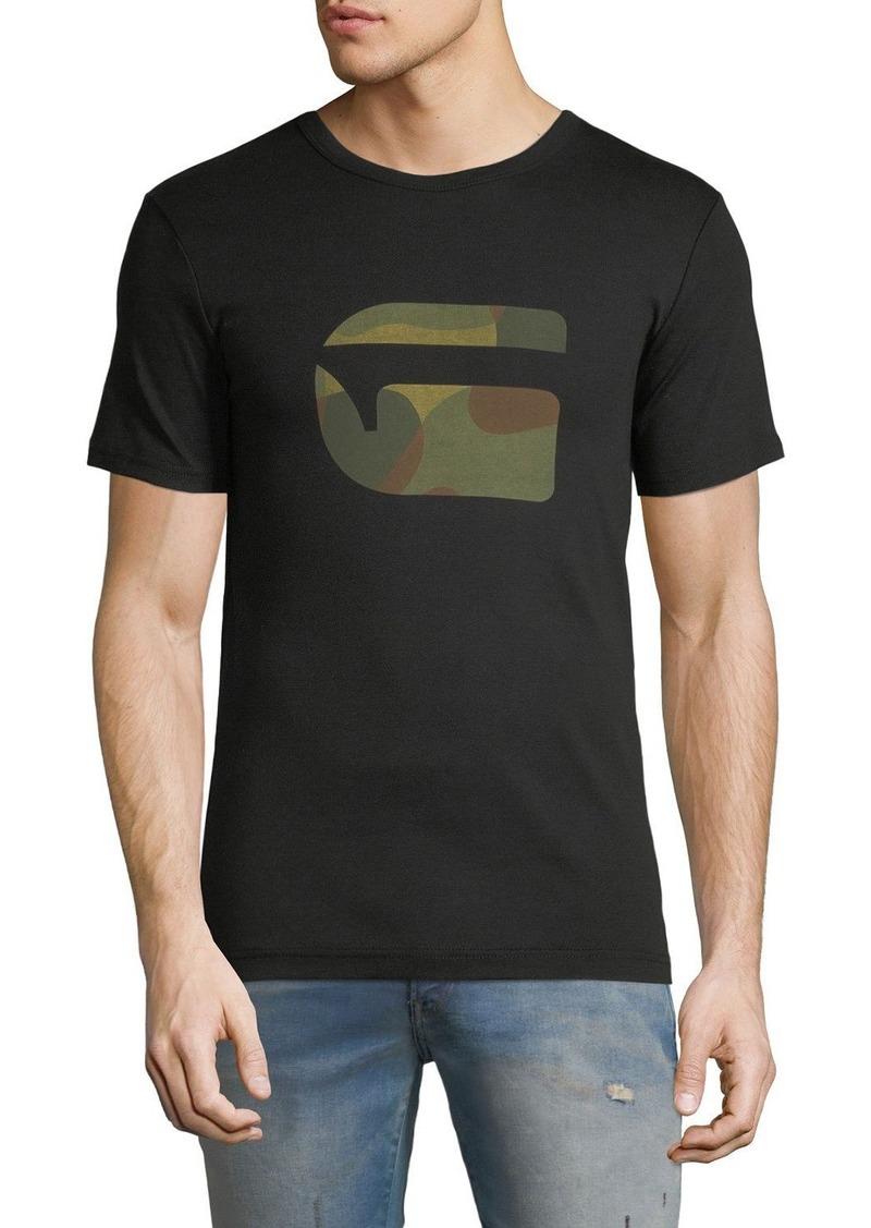 eef67587be On Sale today! G Star Raw Denim Mai Slim Camo-Logo T-Shirt